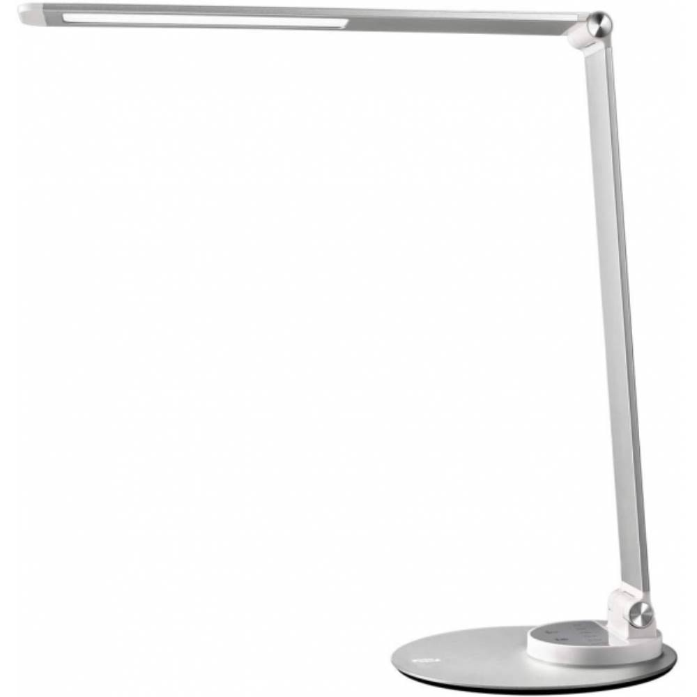 Fotografie Lampa LED de birou TaoTronics TT-DL066, control touch, 3 moduri lumina, USB, 10W, 550lm, Argintiu