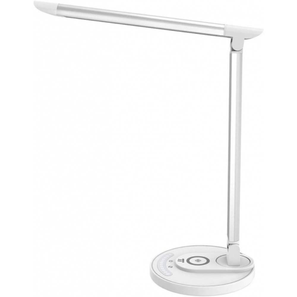 Fotografie Lampa LED de birou TaoTronics TT-DL043, cu incarcator wireless pentru telefon, control touch, 5 moduri lumina,USB, 12W, 410lm, Alb