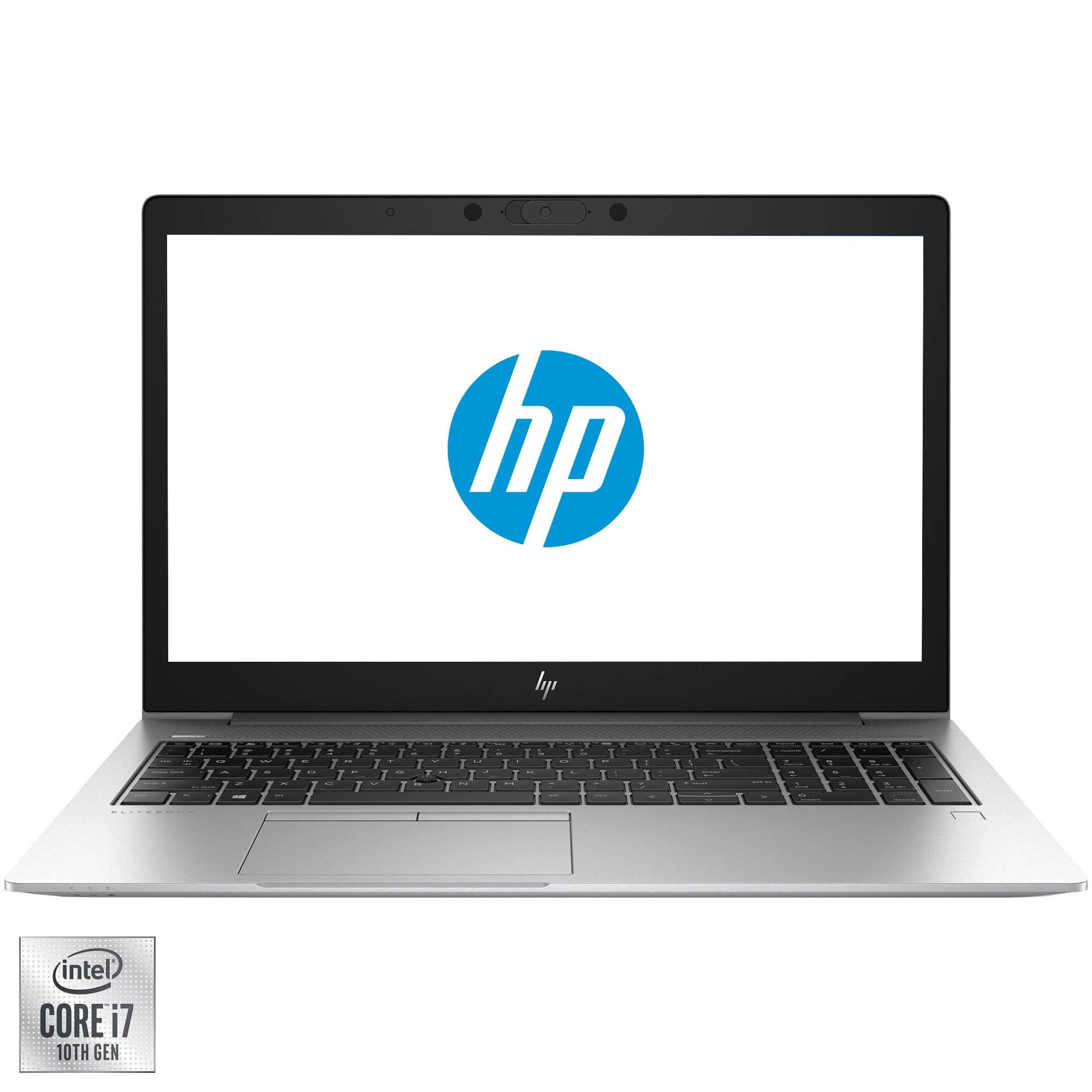 "Fotografie Laptop HP ProBook 450 G7 cu procesor Intel® Core™ i7-10510U pana la 4.90 GHz Comet Lake, 15.6"", HD, 8GB, 512GB SSD, NVIDIA® GeForce® MX250 2GB, Free DOS, Silver + Geanta"