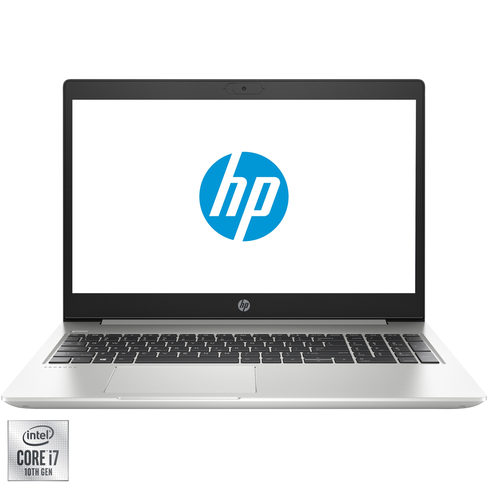 "Fotografie Laptop HP ProBook 450 G7 cu procesor Intel® Core™ i7-10510U pana la 4.90 GHz, 15.6"", Full HD, 8GB, 1TB HDD + 256GB SSD, Intel® UHD Graphics 620, Free Dos, Silver"