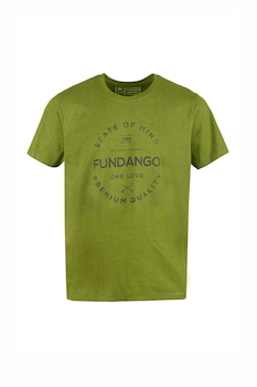 Fundango, Normál fazonú feliratos és logós póló, Olívazöld