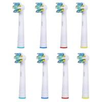 Комплект резервни накрайници за електрически четки за зъби E-Cron, cъвместими глави за ел. четки за зъби с Oral B Floss Action (EB25-4), 8 бр.