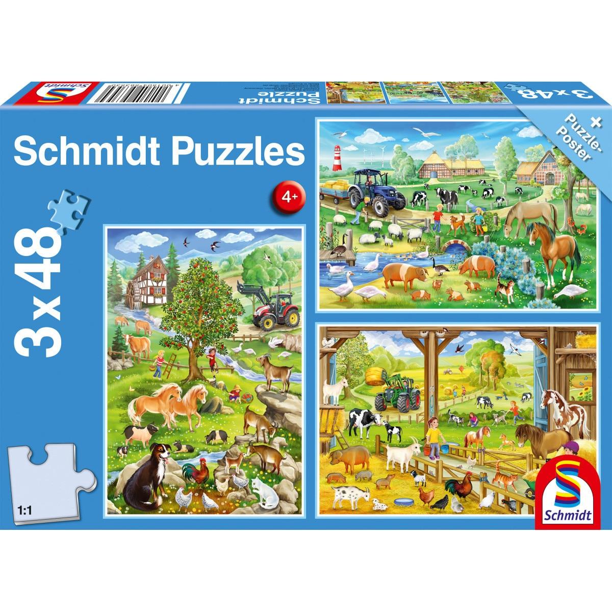 Fotografie Puzzle Schmidt - Bauernhof, 3x48 piese