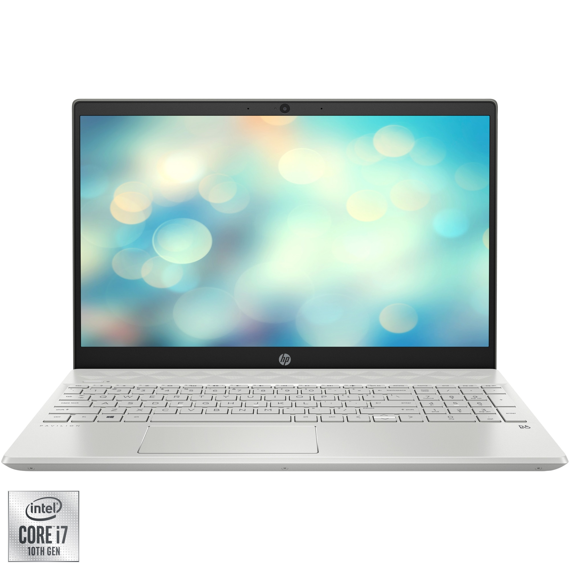 "Fotografie Laptop HP Pavilion 15-cs3037nq cu procesor Intel® Core™ i7-1065G7 pana la 3.90 GHz, 15.6"", Full HD, 16GB, 1TB SSD, Nvidia GeForce MX250 4GB, Free DOS, Silver"