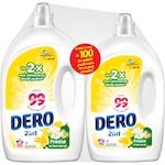 Pachet Promo Detergent automat lichid Dero 2in1 Frezie, 3L & 2L, 100 spalari