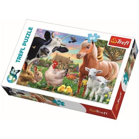 Puzzle Trefl, Ferma fericita, 60 piese