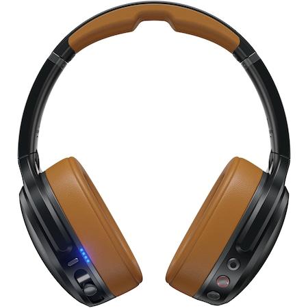 Casti Audio Over the Ear Pliabile Skullcandy Crusher, Wireless, Bluetooth, Noise cancelling, Microfon, Autonomie 10 ore, Black Tan Black