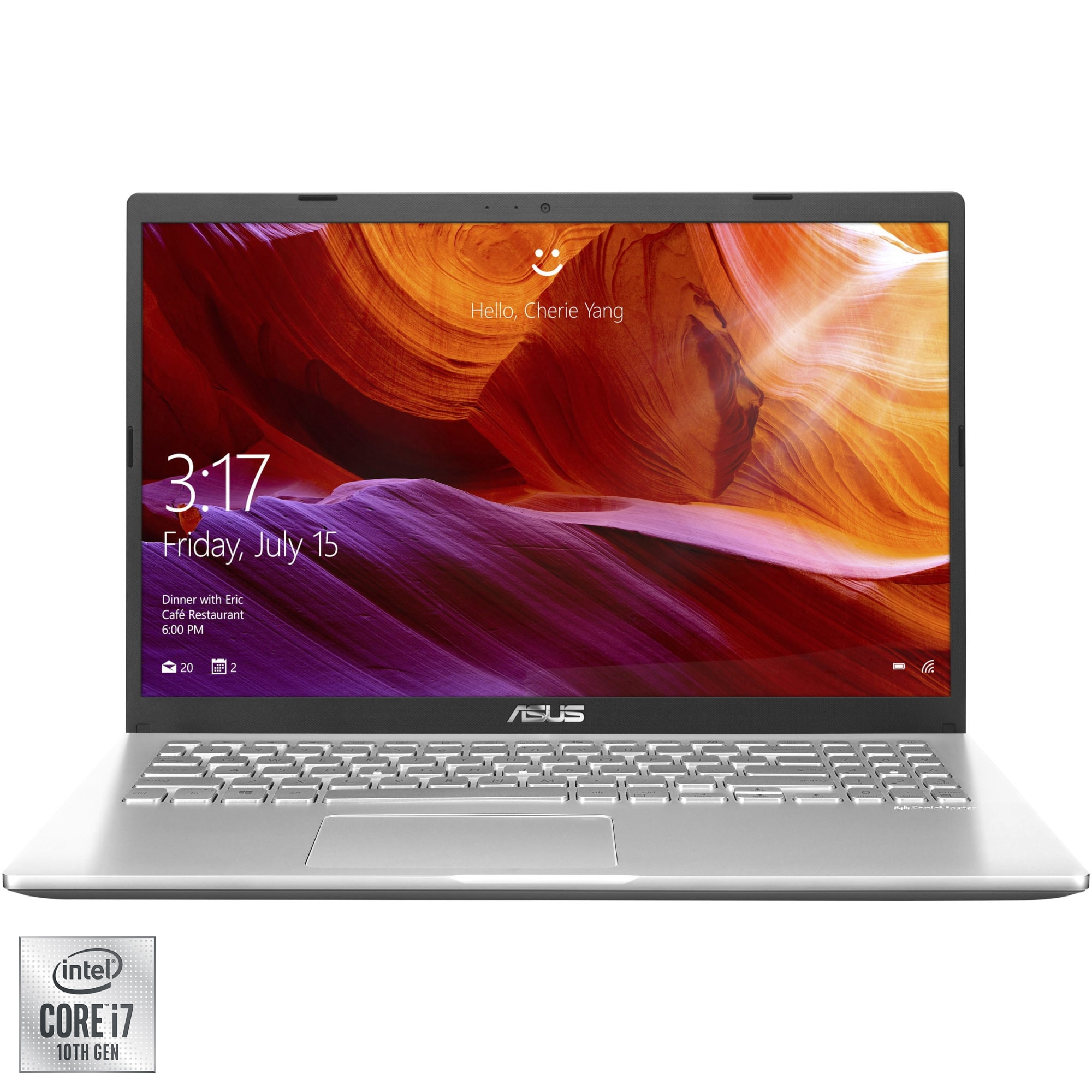 "Fotografie Laptop ASUS X509JP cu procesor Intel® Core™ i7-1065G7 pana la 3.90 GHz, 15.6"", Full HD, 8GB, 512GB SSD, NVIDIA® GeForce® MX330 2GB, Free DOS, Transparent Silver"