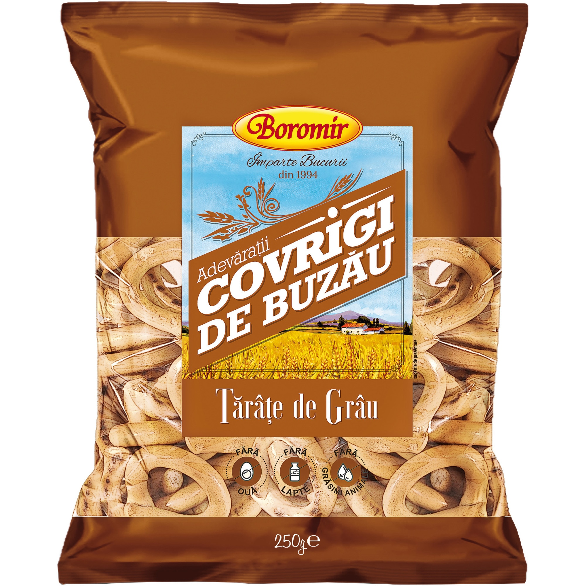 Covrigi de Buzau Boromir, cu tarate, 250g - eMAG.ro