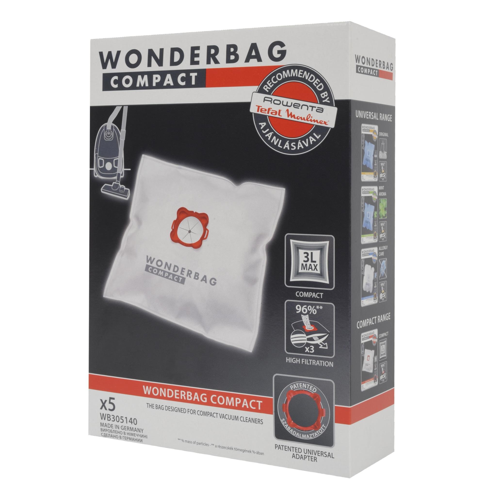 Fotografie Set 5 saci de aspirator Rowenta Wonderbag Compact WB305140