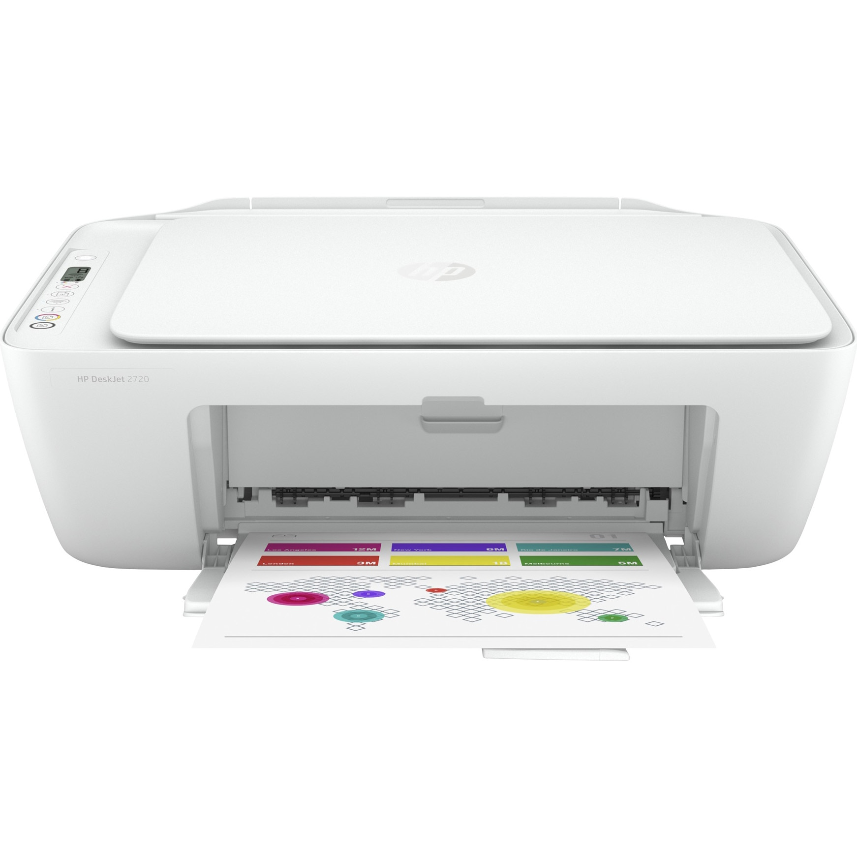 Fotografie Multifunctional inkjet color HP Deskjet 2720 All-in-One, Wireless, A4, Gri