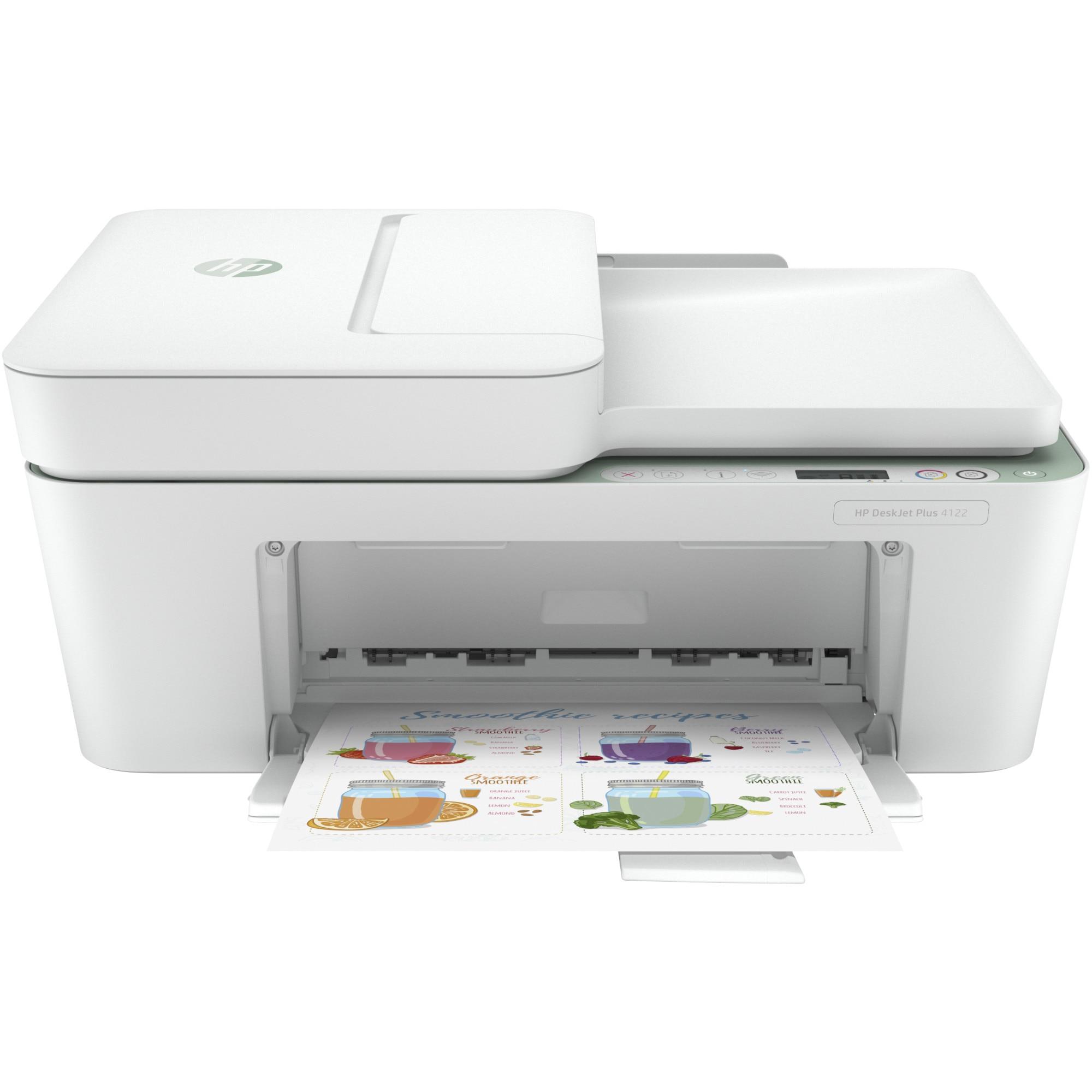 Fotografie Multifunctional inkjet color HP Deskjet Plus 4122 All-in-One, A4, Verde