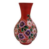 Vaza flori/Suport din ceramica, pictata manual, margarete, 30 x 17 cm,tip ulcior, motiv floral, multicolor
