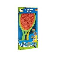 OEM tenisz szett, 2 ütő és egy labda, műanyag, többszínű, 3 éves kortól, 38x19 cm