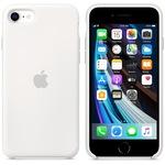 Калъф Apple за iPhone SE 2, Силикон, Бял
