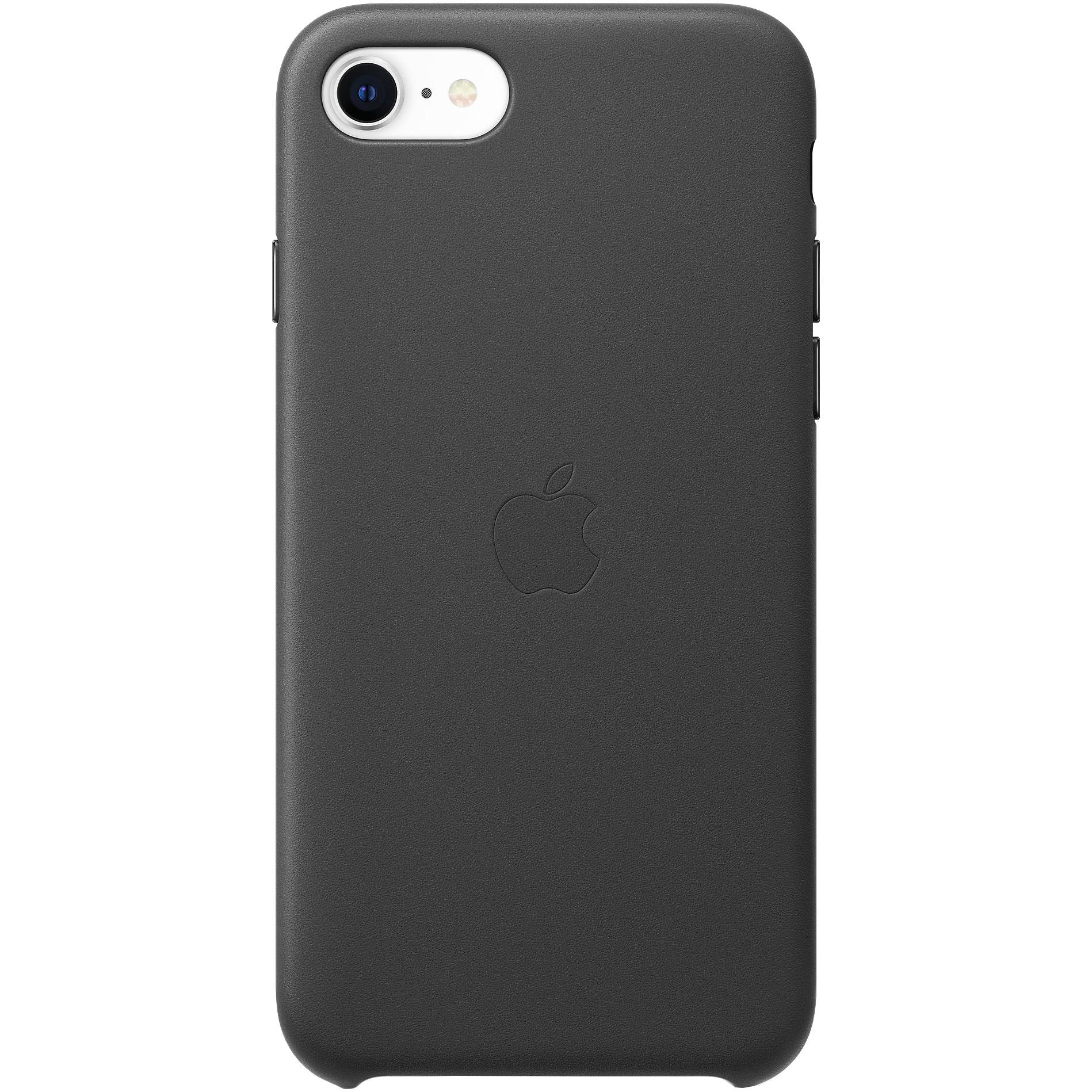 Fotografie Husa de protectie Apple pentru iPhone SE 2, Piele, Black