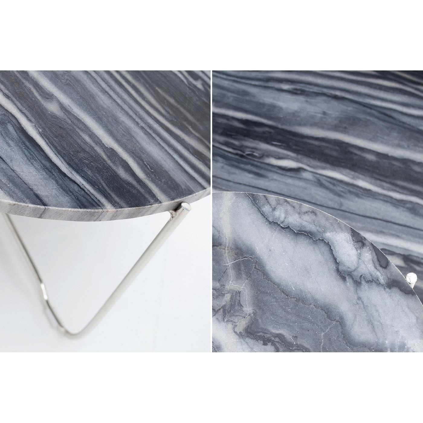 Asztalka, nemes szürke márvány, nagy 36 cm, Paris - Butopea JzAkwt