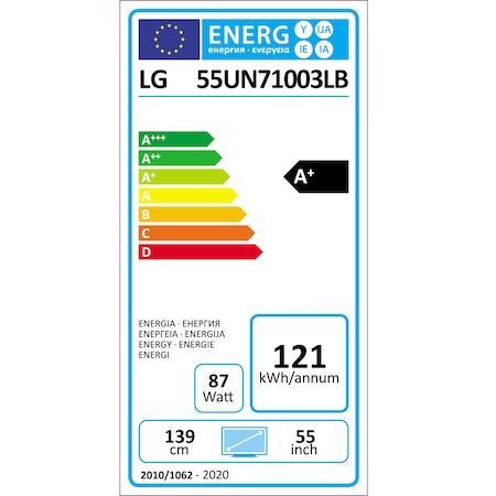 Televizor LG 55UN71003LB, 139 cm, Smart, 4K Ultra HD, LED, Clasa A+