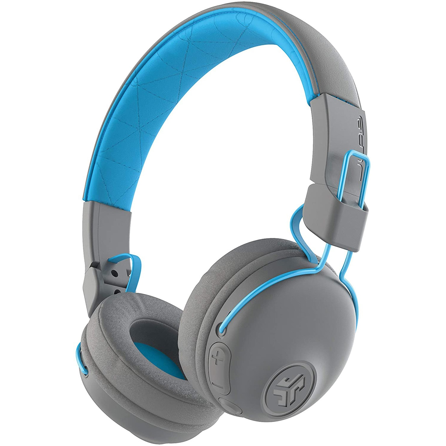 Fotografie Casti Audio On ear JLAB Studio, Wireless, Bluetooth, Functie Bass, Microfon, Autonomie 30 ore, Gri