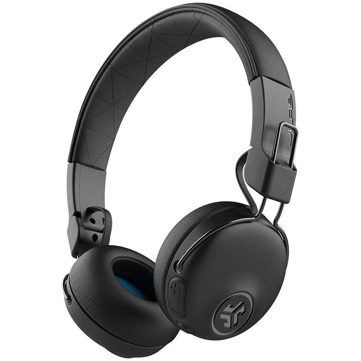 Fotografie Casti Audio On Ear pliabile JLAB Studio, Wireless, Bluetooth, Noise cancelling, Microfon, Autonomie 34 ore, Negru