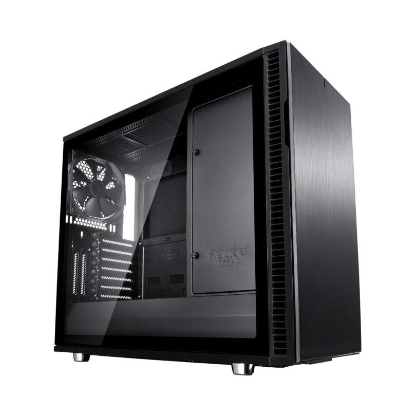 Fotografie Carcasa Fractal Design Define R6 Tempered Glass, Middle Tower, fara sursa, eATX, Black