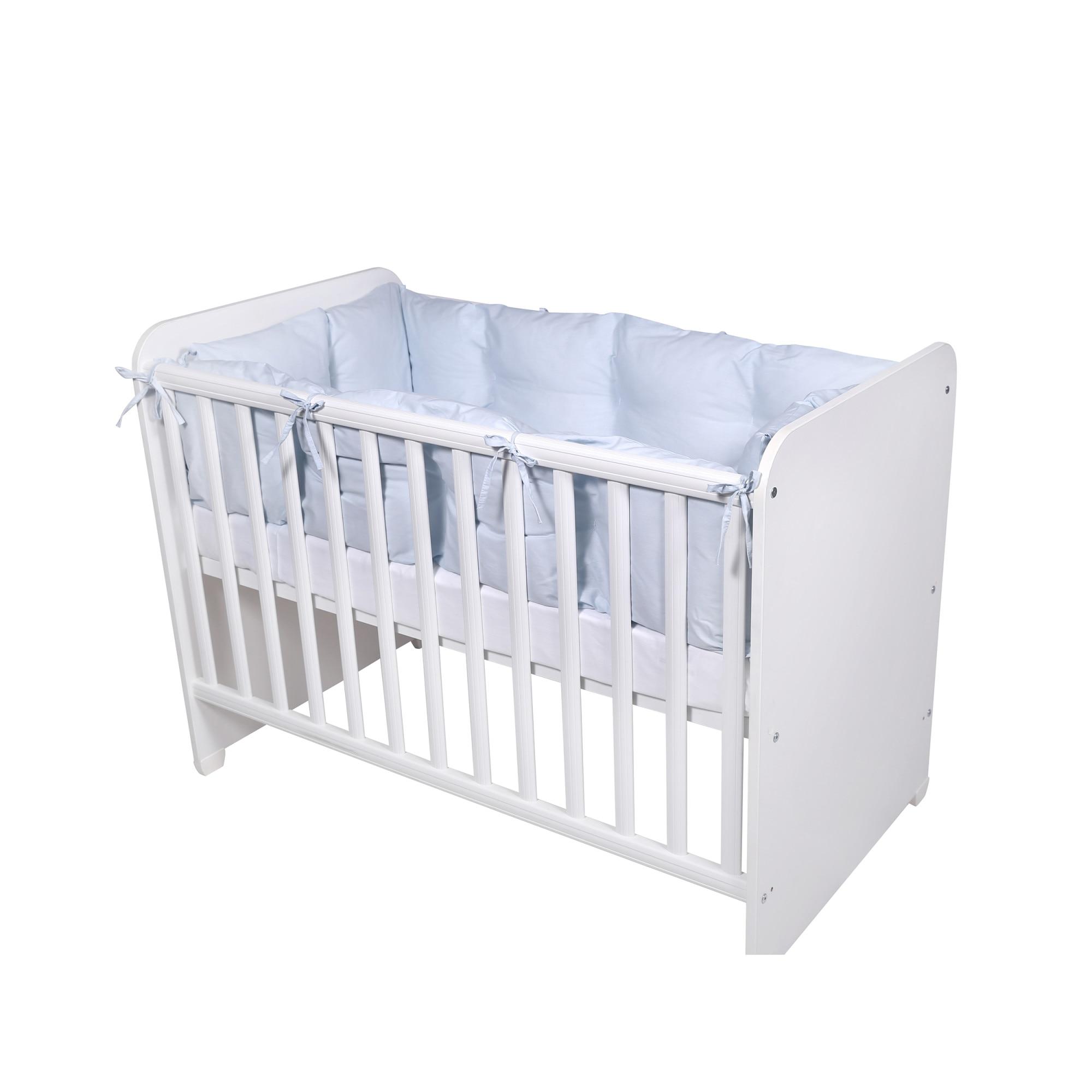 Fotografie Set protectii laterale pentru pat 4 piese Lorelli, 60 x 120 cm, Albastru