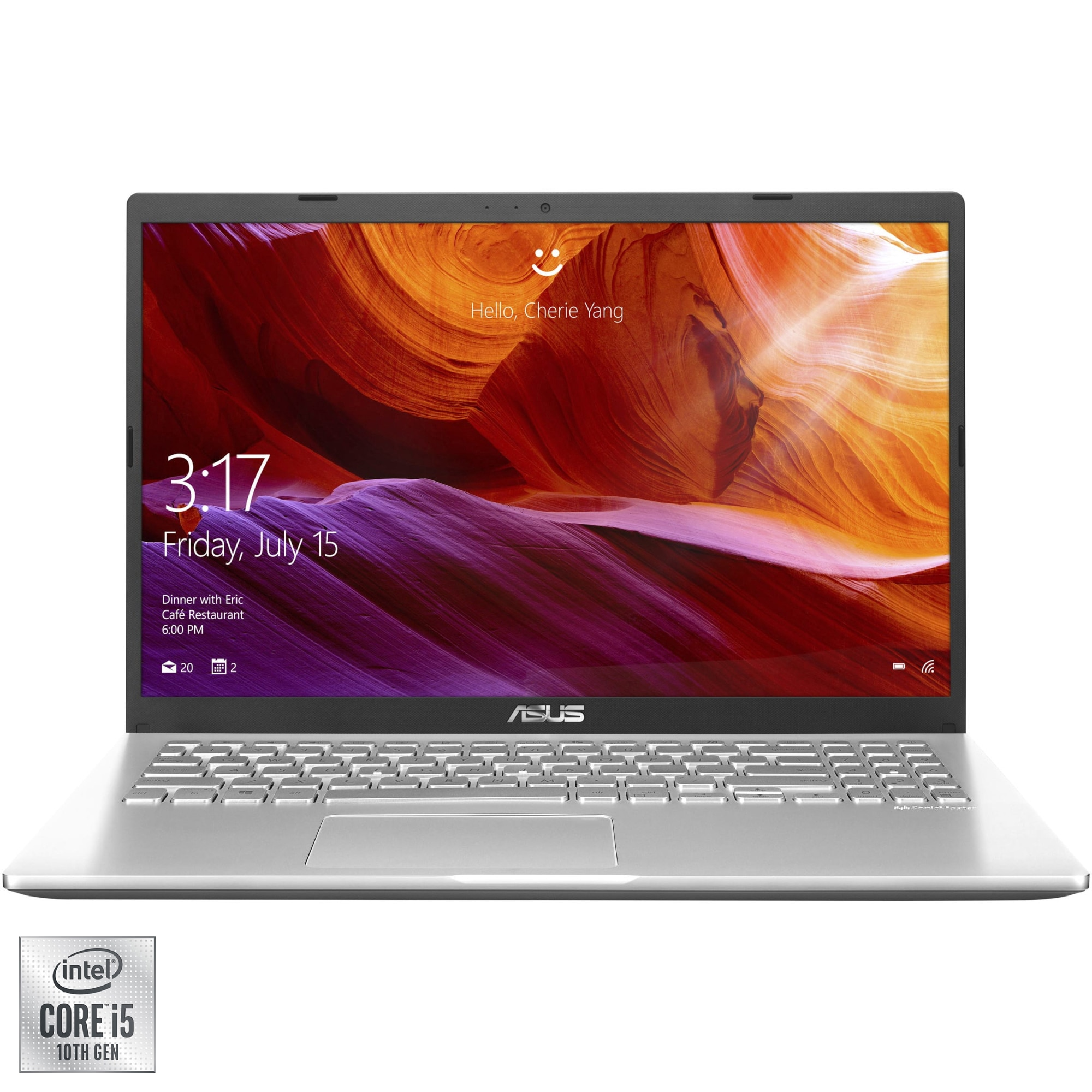 "Fotografie Laptop ASUS X509JA cu procesor Intel® Core™ i5-1035G1 pana la 3.60 GHz, 15.6"", Full HD, 8GB, 1TB HDD, Intel® UHD Graphics, Free DOS, Transparent Silver"
