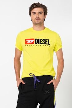 Diesel, Division póló hímzett logóval, Limezöld