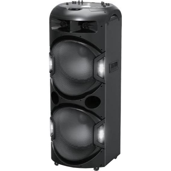 Fotografie Boxa activa AKAI DJ-Y5L Discoball, Bluetooth, USB, SD card, Radio FM, intrare auxiliara, microfon wireless inclus