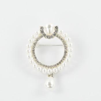 Brosa Ana Silver , Avantflor, Argintiu , 4 cm