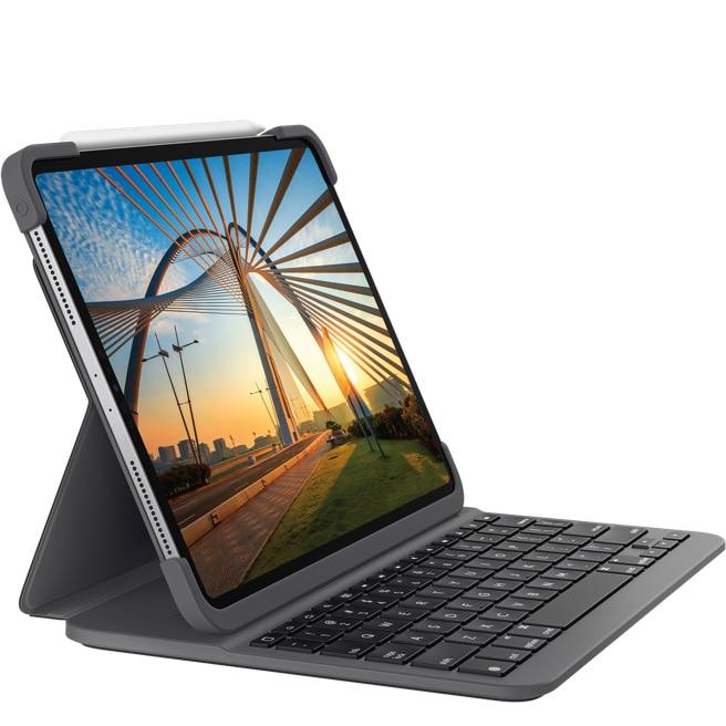 Fotografie Husa cu tastatura Logitech Slim Folio pentru iPad Pro 12.9 (3rd gen), Black
