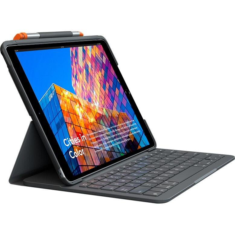 Fotografie Husa cu tastatura Logitech Slim Folio pentru iPad Air 10.5 (3rd gen), Graphite