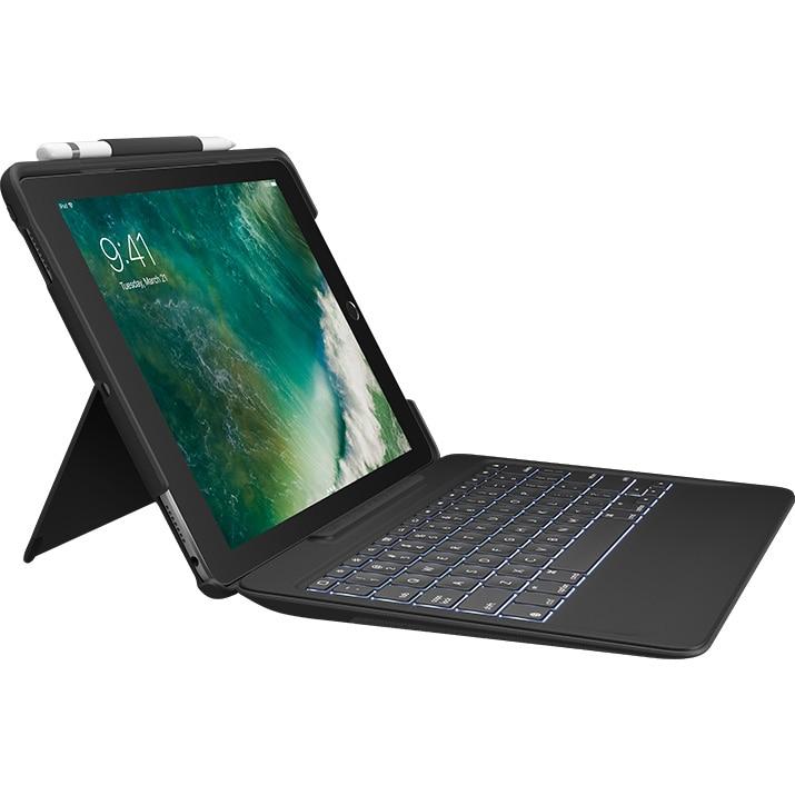 Fotografie Husa cu tastatura Logitech Slim Combo pentru iPad Pro 10.5, Black