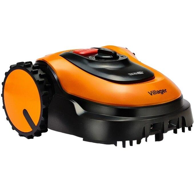 Fotografie Robot de tuns gazonul Villager Villybot 2.0, 18 V, motor inductie, 2.5 Ah baterie Li Ion, 400 mp, autonomie 45 min, 180 mm latime lucru, 5 cm inaltime maxima taiere