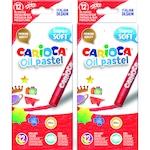Carioca Oil Pastel Maxi Zsírkréta, 12 db/doboz, 2 db/szett
