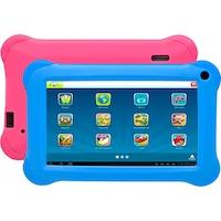 """Denver TAQ-70352K 7"""" Tablet, 8GB, WiFi, Android 8.1, fekete, + kék és pink szilikon tok"""