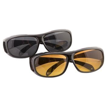 Set 2 perechi ochelari pentru condus ziua/noapte, HD VISION, unisex