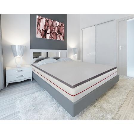 Topper saltea Kring Luxury , H 8 cm spuma memory, 160x200 cm