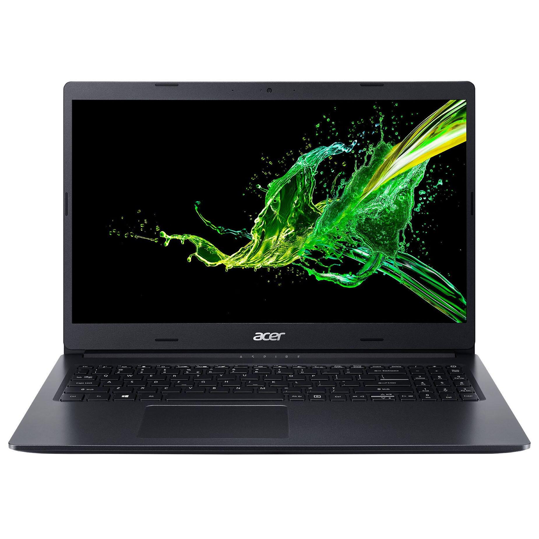 "Fotografie Laptop Acer Aspire 3 A315-54K cu procesor Intel® Core™ i5-6300U pana la 3.00 GHz, 15.6"", Full HD, 4GB, 256GB SSD, Intel HD Graphics 620, No OS, Black"