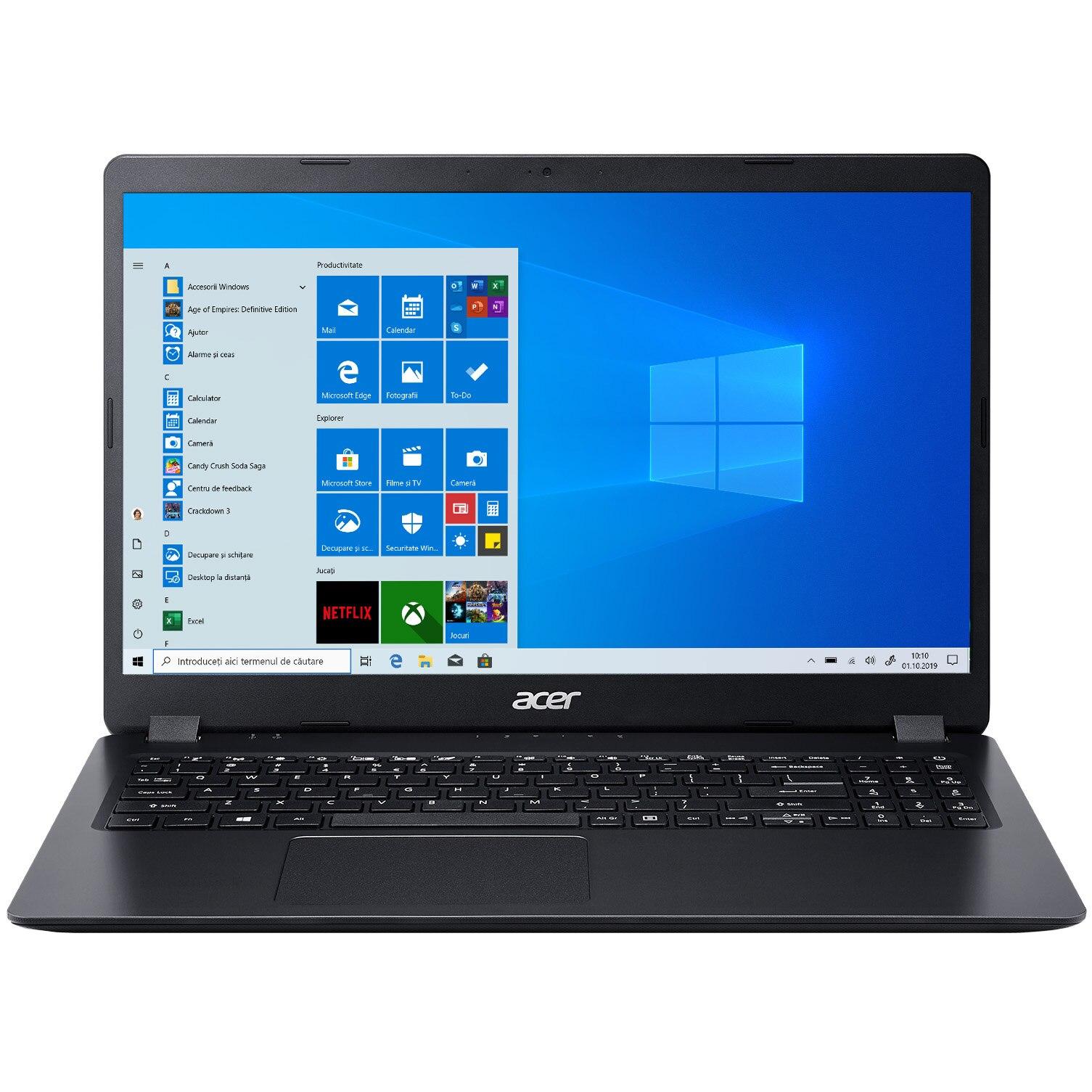 "Fotografie Laptop Acer Aspire 3 A315-42G cu procesor AMD Ryzen 5 3500U pana la3.70 GHz, 15.6"", Full HD, 8GB, 256GB SSD, AMD Radeon 540X 2GB, Windows 10 Home, Black"