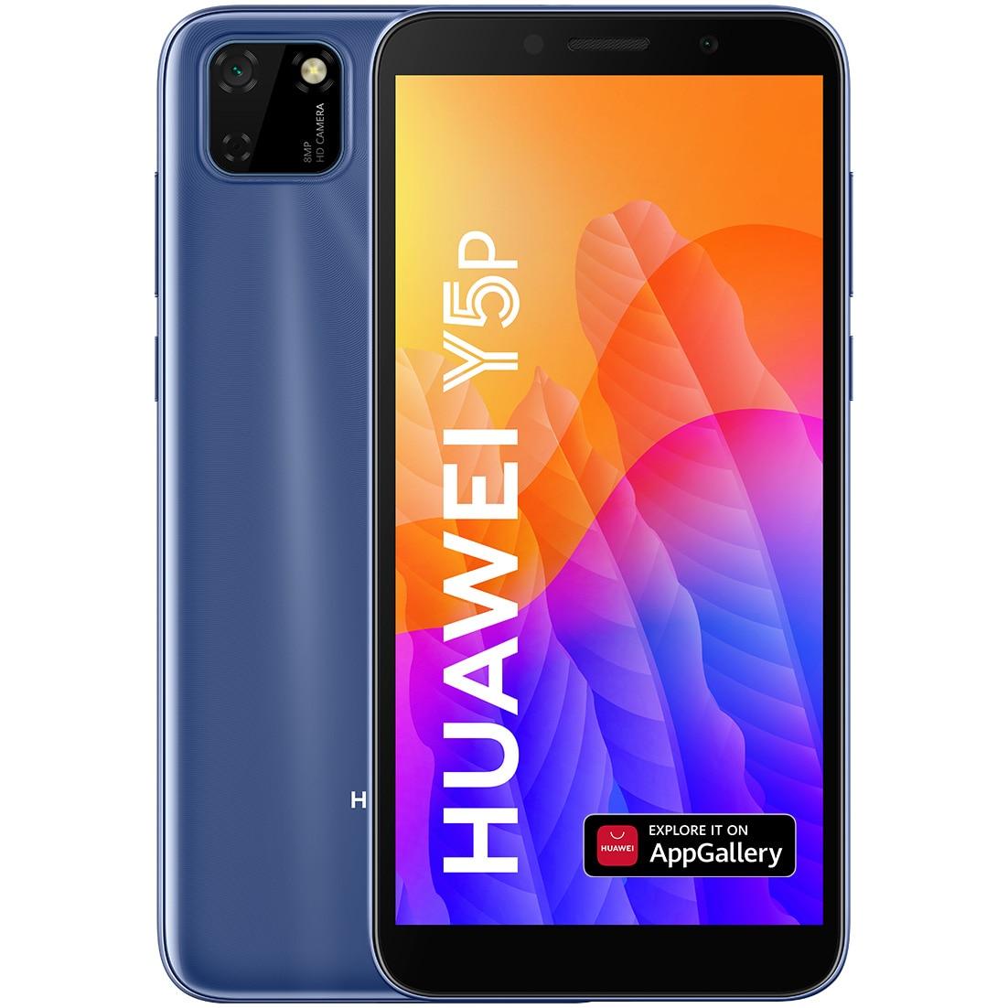 Fotografie Telefon mobil Huawei Y5P, Dual SIM, 32GB, 4G, Phantom Blue