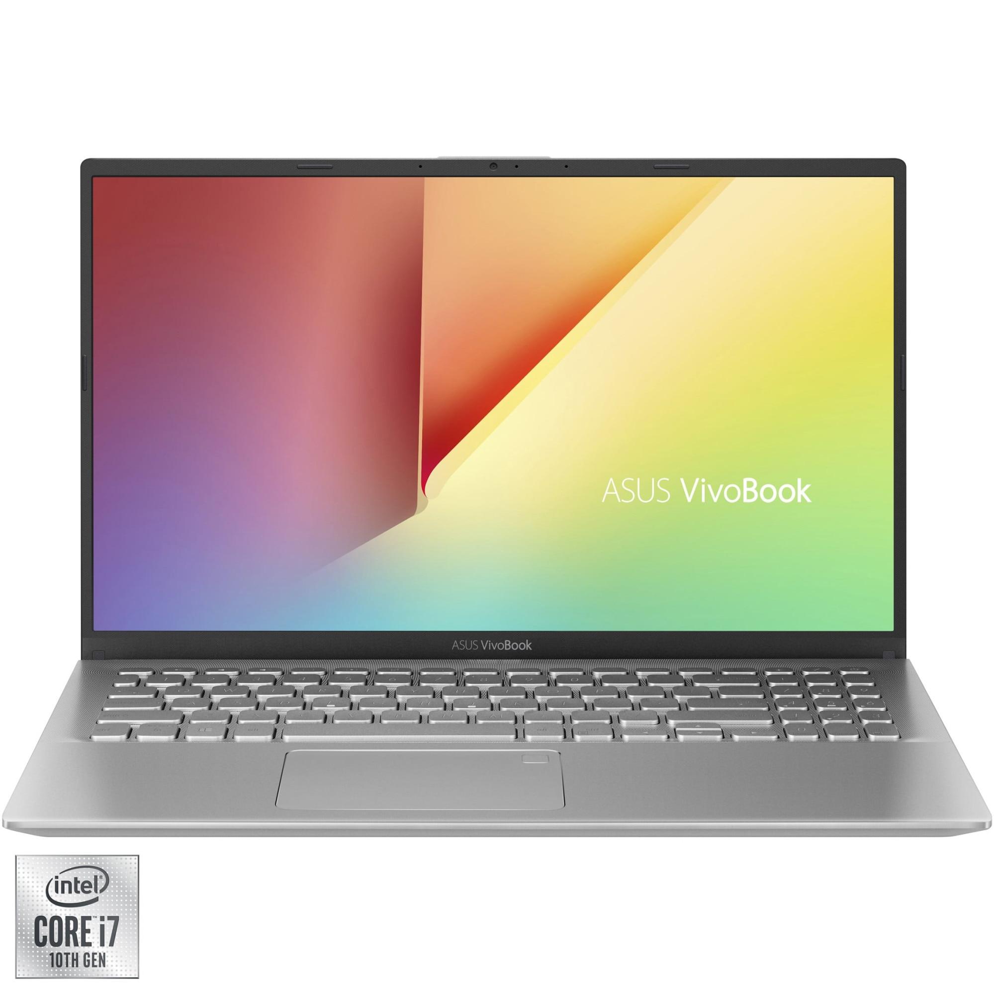 "Fotografie Laptop ASUS VivoBook K512JA cu procesor Intel® Core™ i7-1065G7 pana la 3.90 GHz, 15.6"", Full HD, 8GB, 512GB SSD, Intel® Iris™ Plus Graphics, Free DOS, Transparent Silver"