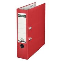 Biblioraft A4 plastifiat, Leitz 180º 75mm, rosu