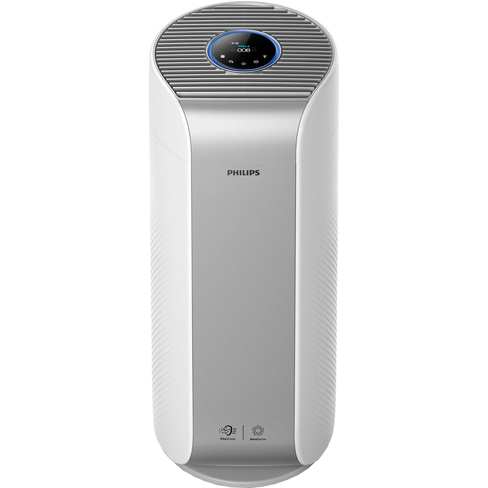 Fotografie Purificator de aer Philips AC3854/50, CADR 500 m3/h, AeraSense, VitaShield, Clean Home+, Senzor PM2.5, Argintiu