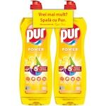 Detergent de vase Pur Power Lemon 2x750ml