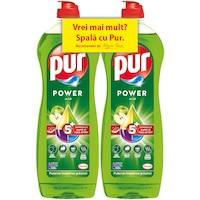 Detergent de vase Pur Power Apple 2x750ml