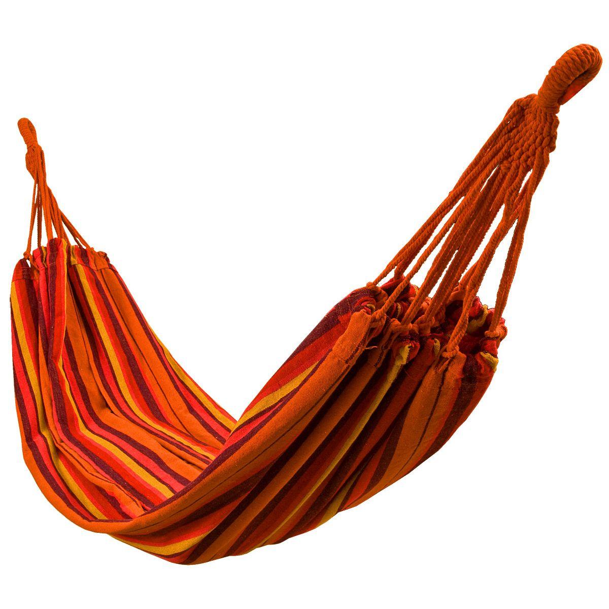 Royokamp dupla függőágy 2 fő részére, tárolózsákkal, 200x150cm méret, kapacitás 150kg, narancssárga szín T4Ed2J