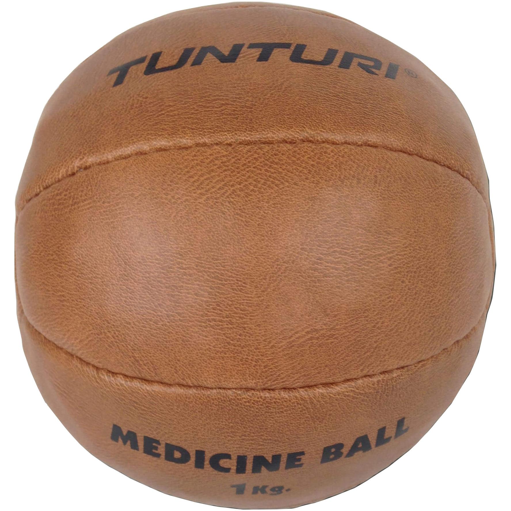 Fotografie Minge mediciala Tunturi, 1kg, piele sintetica