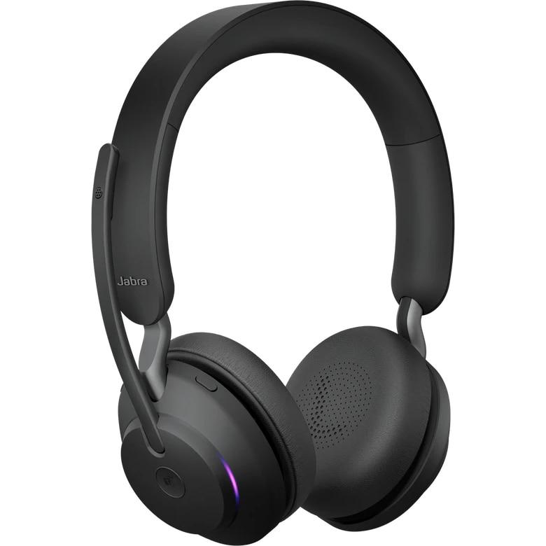 Fotografie Casti wireless cu microfon Jabra Evolve2 65 MS, USB, Negru