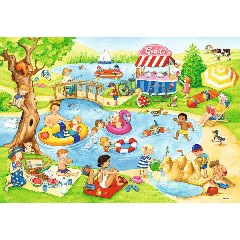Fotografie Puzzle Ravensburger - Distractie la lac, 2x24 piese